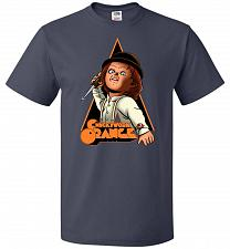Buy Chuckywork Orange Unisex T-Shirt Pop Culture Graphic Tee (6XL/J Navy) Humor Funny Ner