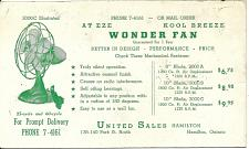 Buy Vintage Ink Blotter United Sales Hamilton Ontario Canada At Eze Wonder Fan3