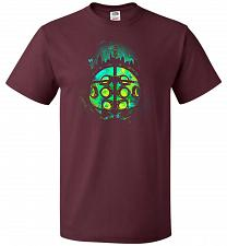 Buy Face Of Rapture Unisex T-Shirt Pop Culture Graphic Tee (5XL/Maroon) Humor Funny Nerdy