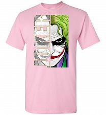 Buy Joker Unisex T-Shirt Pop Culture Graphic Tee (4XL/Light Pink) Humor Funny Nerdy Geeky