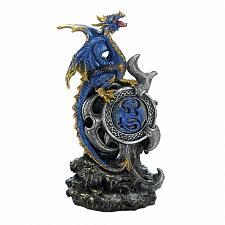 Buy *18261U - Blue Dragon Figurine w/LED Light Up Medallion