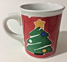 Buy Large Christmas Tree Red Green Brushed Coffee Cup Mug Big 16 oz. Houston Harvest
