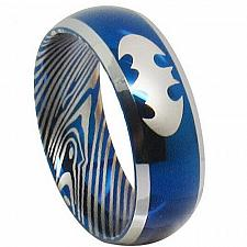 Buy coi Jewelry Tungsten Carbide Batman Damascus Ring