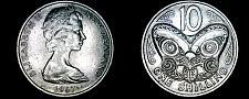 Buy 1967 New Zealand 10 Cent World Coin - Elizabeth II