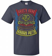 Buy Krusty Krab Krabby Patty Adult Unisex T-Shirt Pop Culture Graphic Tee (3XL/J Navy) Hu
