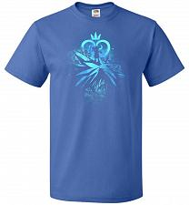 Buy Face of The Key Blade Unisex T-Shirt Pop Culture Graphic Tee (XL/Royal) Humor Funny N
