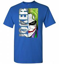 Buy Joker Unisex T-Shirt Pop Culture Graphic Tee (S/Royal) Humor Funny Nerdy Geeky Shirt