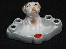 Buy Porcelain Dog Figural Ashtray & Cigarette or Match Holder Vintage Japan Snuffer