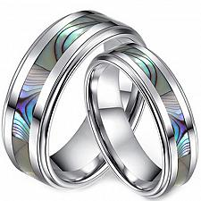 Buy coi Jewelry Tungsten Carbide Ring With Mother of Pearl