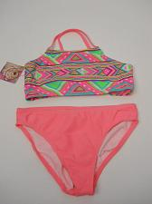 Buy GIRLS Tankini Set Swimwear OP Size M 7/8 Halter Top Coral Print Spaghetti Straps