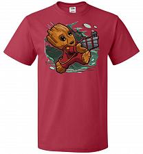 Buy Tiny Groot Unisex T-Shirt Pop Culture Graphic Tee (XL/True Red) Humor Funny Nerdy Gee