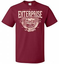 Buy Enterprise Unisex T-Shirt Pop Culture Graphic Tee (M/Cardinal) Humor Funny Nerdy Geek