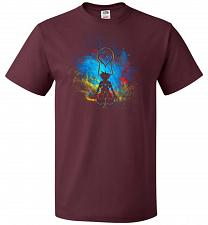 Buy Kingdom Art Unisex T-Shirt Pop Culture Graphic Tee (3XL/Maroon) Humor Funny Nerdy Gee