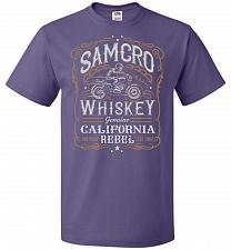 Buy Sons of Anarchy Samcro Whiskey Adult Unisex T-Shirt Pop Culture Graphic Tee (2XL/Purp