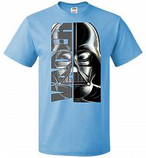 Buy Vader Youth Unisex T-Shirt Pop Culture Graphic Tee (Youth L/Aquatic Blue) Humor Funny
