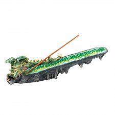 Buy *17772U - Green Dragon Faux Crystal Stick Incense Burner