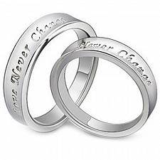 Buy coi Jewelry Tungsten Carbide Love Never Change Wedding Ring