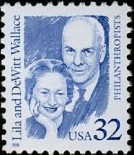 Buy 1998 32c Lila & DeWitt Wallace, Reader's Digest Scott 2936 Mint F/VF NH