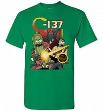 Buy C-137 Schwifty Squad Unisex T-Shirt Pop Culture Graphic Tee (XL/Turf Green) Humor Fun