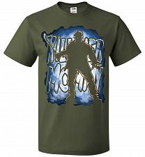 Buy Jason Voorhees Killer Mommy Adult Unisex T-Shirt Pop Culture Graphic Tee (5XL/Militar