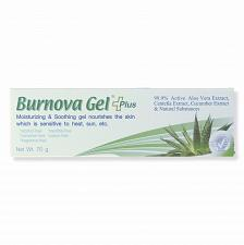 Buy Burnova Gel Plus Aloe Vera Centella and Cucumber Extract for Burns 70 grams