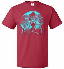 Buy Saiyan Sized Secret Unisex T-Shirt Pop Culture Graphic Tee (S/True Red) Humor Funny N