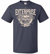 Buy Enterprise Unisex T-Shirt Pop Culture Graphic Tee (M/J Navy) Humor Funny Nerdy Geeky