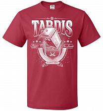 Buy Anywhere and Everywhere Tardis Unisex T-Shirt Pop Culture Graphic Tee (S/True Red) Hu