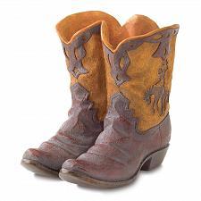Buy 38447U - Cowboy Boots Polyresin Planter Plant Pot