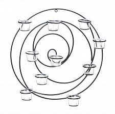 Buy *15835U - Hypnotic Circular Black Metal 10 Cup Tea Light Wall Sconce
