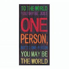 Buy *17954U - To The World One Person Canvas Wall Art