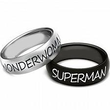 Buy coi Jewelry Tungsten Carbide SuperMan Wonder Woman Ring