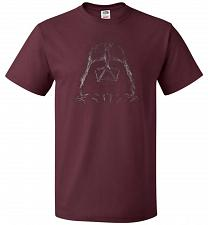 Buy Darth Smoke Unisex T-Shirt Pop Culture Graphic Tee (2XL/Maroon) Humor Funny Nerdy Gee