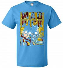 Buy Mad Rick Unisex T-Shirt Pop Culture Graphic Tee (S/Pacific Blue) Humor Funny Nerdy Ge