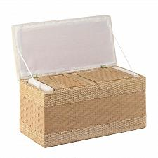Buy *17878U - Woven Natural Nesting Storage Trunks 3pc Set