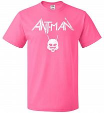 Buy Antman Anthrax Parody Unisex T-Shirt Pop Culture Graphic Tee (M/Neon Pink) Humor Funn