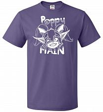 Buy Poppy Main Unisex T-Shirt Pop Culture Graphic Tee (2XL/Purple) Humor Funny Nerdy Geek