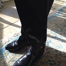 Buy Vero Cuoio Leather Woman's Black riding Boots Size 9 beautiful condition