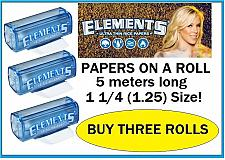 Buy 3 ROLLS of slim 1.25 ELEMENTS Rice Thin Cigarette Rolling Paper 1 1/4 on a roll