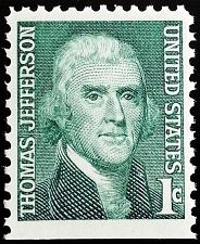 Buy 1968 1c Thomas Jefferson, Booklet Single Scott 1278a Mint F/VF NH