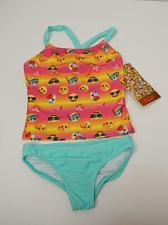 Buy EMOJI GIRLS Tankini Set Swimwear Size XS 4/5 Spaghetti Straps Halter Top