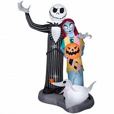 Buy Airblown Inflatable Halloween Jack Skellington Nightmare Before Christmas Sce...