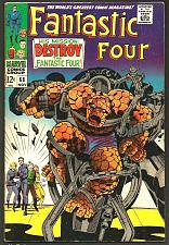 Buy Fantastic Four #68 Marvel Comics Jack Kirby Stan Lee NICE 1st print& series '60s