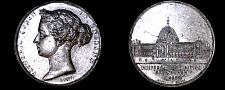 Buy 1862 HANOVER Victoria Silvered WM Medal 50MM Crystal Palace Universal Exhibit