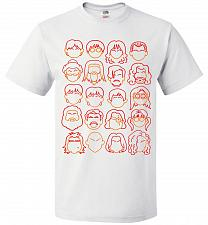 Buy Harry Potter Heads Adult Unisex T-Shirt Pop Culture Graphic Tee (2XL/White) Humor Fun