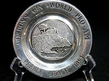 Buy Gordon's Gin Pebble Beach Pewter Plate World Pro Am Golf 1984 Wilton USA 6 inch