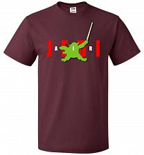 Buy Air Jedi Unisex T-Shirt Pop Culture Graphic Tee (3XL/Maroon) Humor Funny Nerdy Geeky