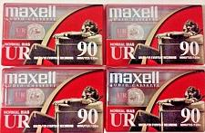 Buy 4 Maxell UR90 Blank Audio Cassette Tapes Normal Bias IEC Type I New Sealed