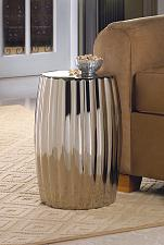 Buy *15686U - Sleek Silver Decorative Accent Side Table Foot Stool