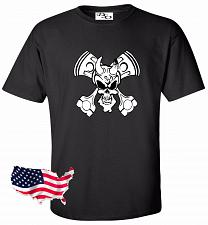 Buy Biker Skull Motorcycle Tattoo T shirt #35